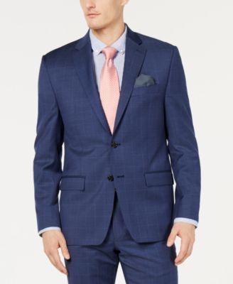 Men's UltraFlex Classic-Fit Windowpane Jacket