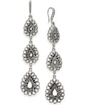 e1d7e281282 I.N.C. Silver-Tone Triple Drop Linear Earrings, Created for Macy's