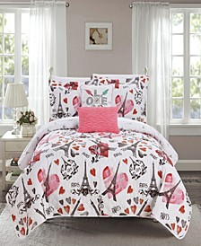 Grand Palais 5 Piece Queen Quilt Set