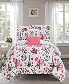Chic Home Grand Palais 5 Piece Queen Quilt Set