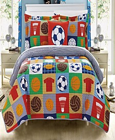 Classic Sport 4 Piece Full Quilt Set