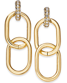 Thalia Sodi Gold-Tone Large Link Door Knocker Drop Earrings, Created for Macy's