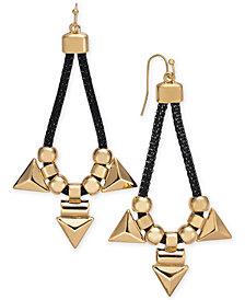 Thalia Sodi Two-Tone Beaded Mesh Statement Earrings, Created for Macy's