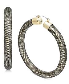Thalia Sodi Two-Tone Mesh Hoop Earrings, Created for Macy's