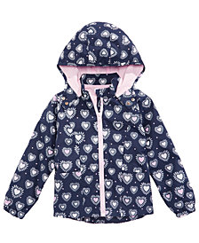 Epic Threads Little Girls Heart-Print Hooded Rain Jacket, Created for Macy's