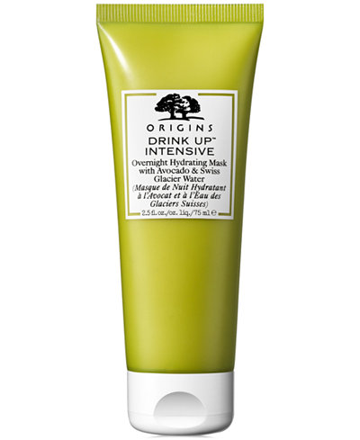 Origins Drink Up Intensive Overnight Hydrating Mask With Avocado & Swiss Glacier Water, 2.5-oz.