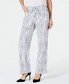 Printed Crinkle Drawstring Pants, Created for Macy's