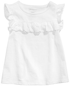 First Impressions Baby Girls Eyelet Ruffle Top, Created for Macy's
