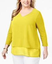 12ba2aa0919 Plus Size Tunic Tops  Shop Plus Size Tunic Tops - Macy s