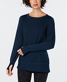 Ideology Lace-Up Side Top, Created for Macy's