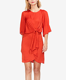 Vince Camuto Draped Tie-Front Dress