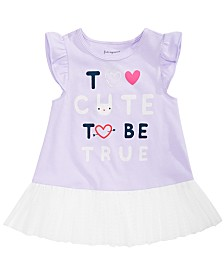 First Impressions Baby Girls Too Cute Graphic Peplum Top, Created for Macy's