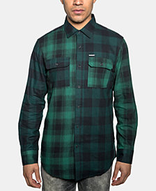Sean John Men's Light & Dark Plaid Shirt