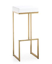 Ferrara White Gold Steel Barstool