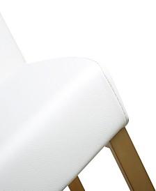 Denmark White Gold Steel Counter Stool