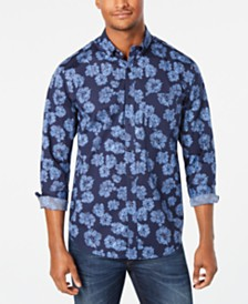 Club Room Men's Floral Graphic Shirt, Created for Macy's
