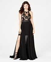 ff0ac72f4 B Darlin Juniors' Sleeveless Beaded & Embroidered Gown, Created for Macy's