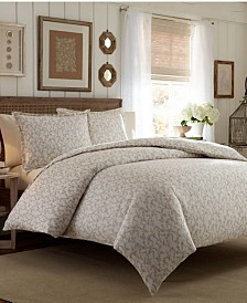 Laura Ashley Core Victoria Pastel Brown King Flannel Comforter Set