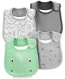 Carter's Baby Boys 4-Pack Dino-Print Bib Set