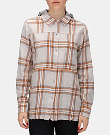 Hurley Juniors' Wilson Plaid Flannel Shirt