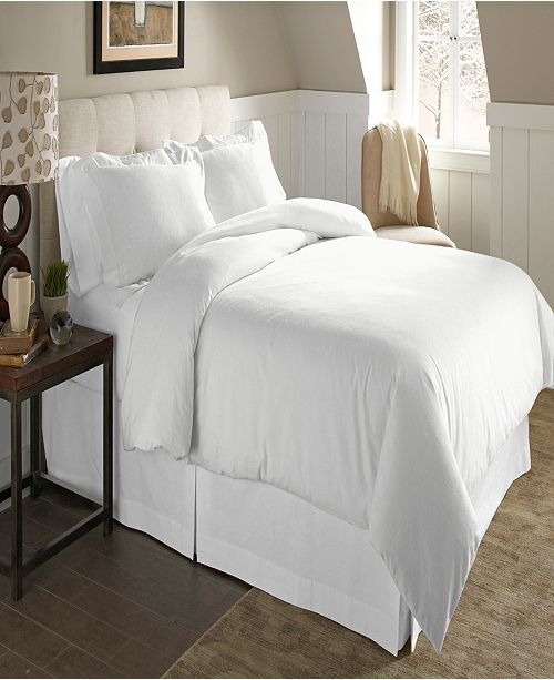 Pointehaven Luxury Size Cotton Flannel Duvet Set Full Queen