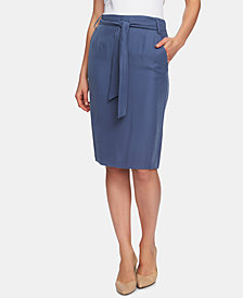 1.STATE Front-Tie Pencil Skirt