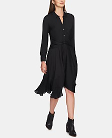 1.STATE Tie-Front High-Low Crisscross Hem Dress