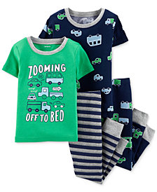 Carter's Baby Boys 4-Pc. Zooming Off to Bed Cotton Pajamas Set