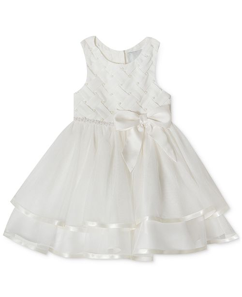 Rare Editions Baby Girls Tiered Pearl Dress