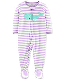 Carter's Baby Girls Narwhal Cotton Footed Pajamas
