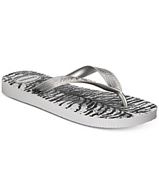 Women's Top Animal Flip-Flop Sandals, Created For Macy's
