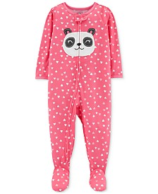 Carter's Baby Girls Panda Footed Pajamas