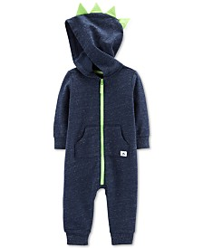 Carter's Baby Boys Dino Hooded Cotton Coverall