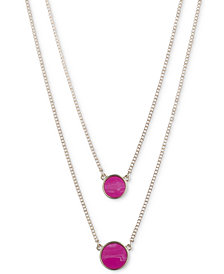 "DKNY Stone Double-Layer 16"" Pendant Necklace"