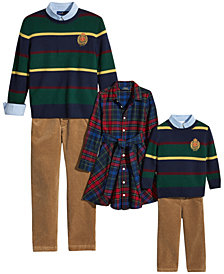Polo Ralph Lauren Girls and Boys Holiday Family Outfits