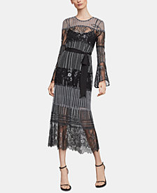 BCBGMAXAZRIA Two-Tone Lace Shift Dress