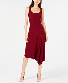 Anne Klein Sleeveless Asymmetric A-Line Dress