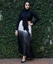 Verona Collection Ombré Chiffon Maxi Skirt