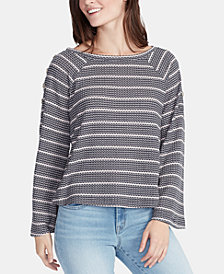 WILLIAM RAST Cary Striped Bell-Sleeved Top