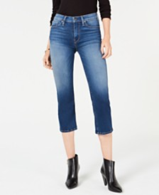Hudson Jeans Stella Cropped Straight-Leg Jeans