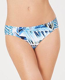 La Blanca Too Cool Printed Shirred Hipster Bikini Bottoms