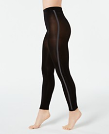I.N.C. Varsity-Stripe Footless Tights, Created for Macy's