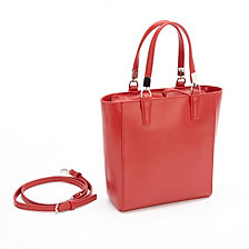 Royce RFID Blocking Mini Tote Cross Body Bag in Saffiano Leather