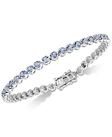 Tanzanite Link Bracelet (4 ct. t.w.) in Sterling Silver