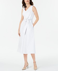 Calvin Klein Sateen Midi Dress