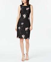 80a3f42af6 Calvin Klein Floral-Embroidered Sheath Dress