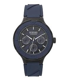 Versus Men's Wynberg Blue & Black Silicone Strap Watch 44mm