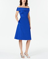 4d9c3f1cdead Calvin Klein Off-The-Shoulder Sateen Dress
