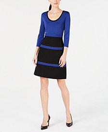 Anne Klein 3/4-Sleeve Fit & Flare Dress