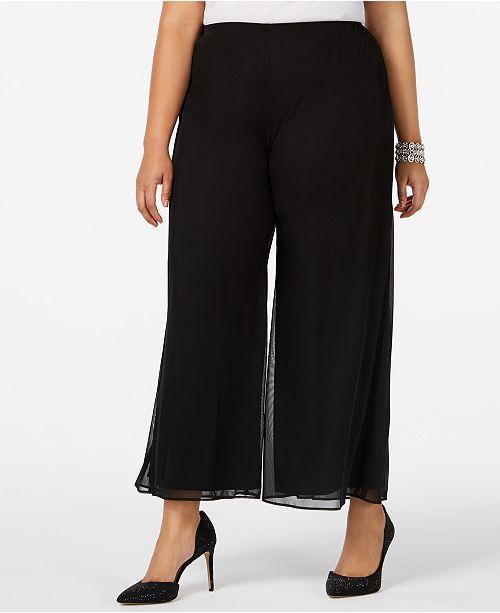 Alex Evenings Plus Size Cropped Wide-Leg Pants